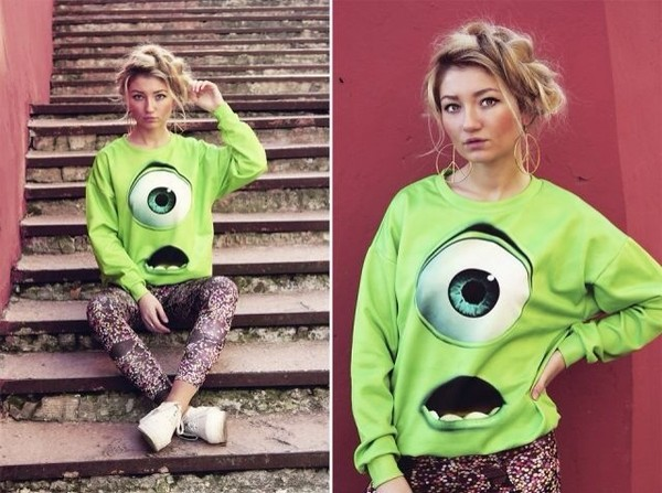 sweater green monster inc