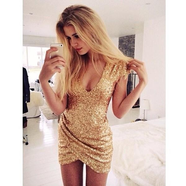 dress gold dress sparkly dress pretty