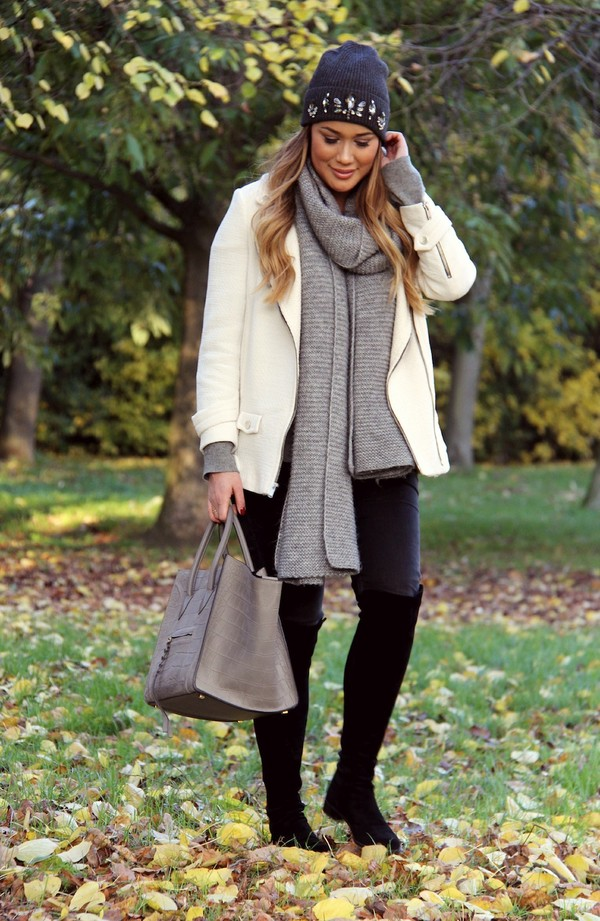 louhayhay hat jacket scarf jeans shoes bag