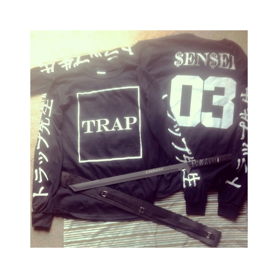TRAP SENSEI LONG SLEEVES (BLACK) / TRAPSENSEI