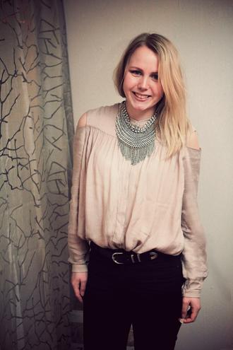 elenita jewels belt blouse jeans