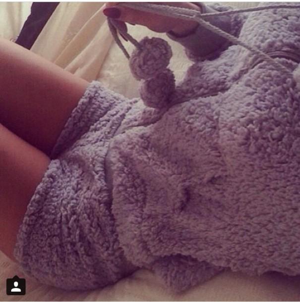 pajamas grey sweater comfy onesie fuzzy sweater