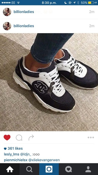shoes chanel inspired trainers