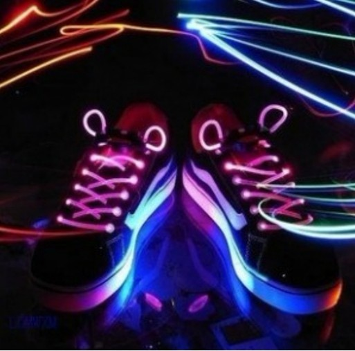 free shipping Fiber Optic LED Shoe laces round shoelaces neon led strong light flashing shoelace colors for choose-in Shoelaces from Shoes on Aliexpress.com