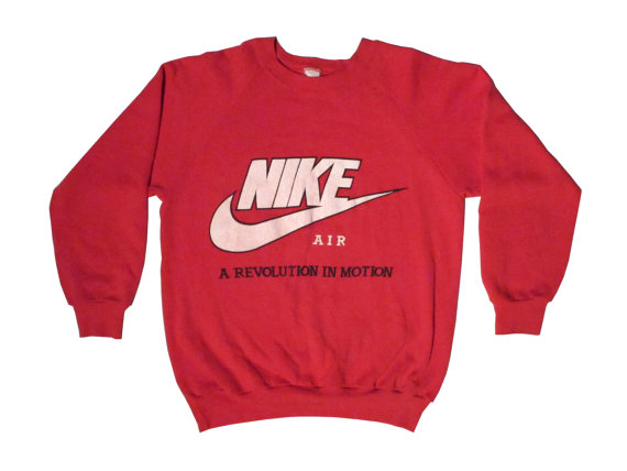 Vintage Nike A Revolution In Motion Red by RoodBoiVintage on Etsy