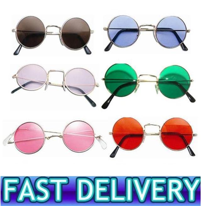 1970s 1960s Sunglasses Round Glasses Fancy Dress Hippie Hippy Lennon Beatles | eBay
