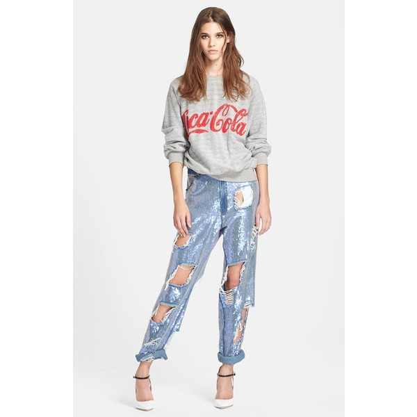 ASHISH 'Coca-Cola® ' Fleece Sweatshirt - Polyvore