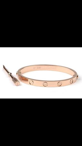 jewels gold bracelets screw bracelet