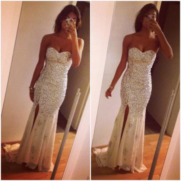 dress cocktail dress sequin dress maxi dress white dress