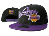Wholesale NBA Los Angeles Lakers Black With Purple Snapback caps 7 wholesale nba snapback hats