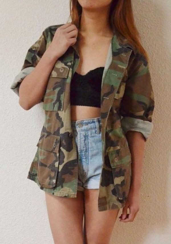 jacket camouflage print