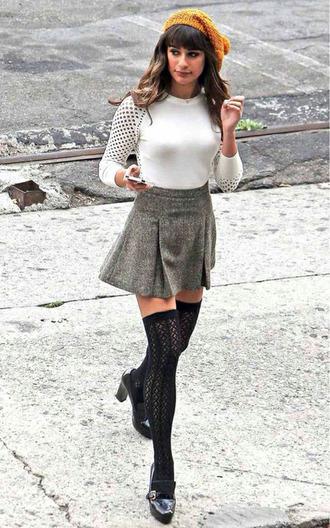 mesh top lea michele glee blouse