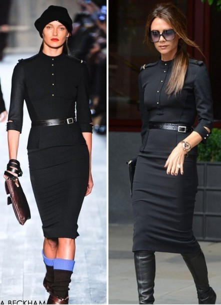 Free Shipping! Py 29735 victoria star 2012 vintage stand collar epaulette slim one piece dress with belt-inDresses from Apparel & Accessories on Aliexpress.com