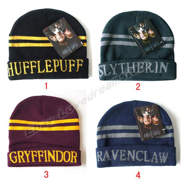 Harry Potter Hufflepuff Slytherin Gryffindor Ravenclaw Sorting Wool Hat Cap | eBay