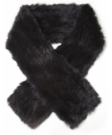 Women's Yves Salomon Long Rabbit Fur Scarf | JULES B