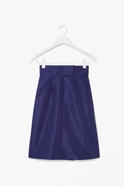 Skirt with box pleats