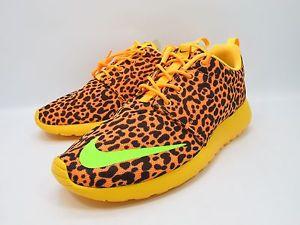 DS 2013 Nike Rosherun FB Citrus Orange Leopard 580573 838 NSW Sz 9 5 | eBay