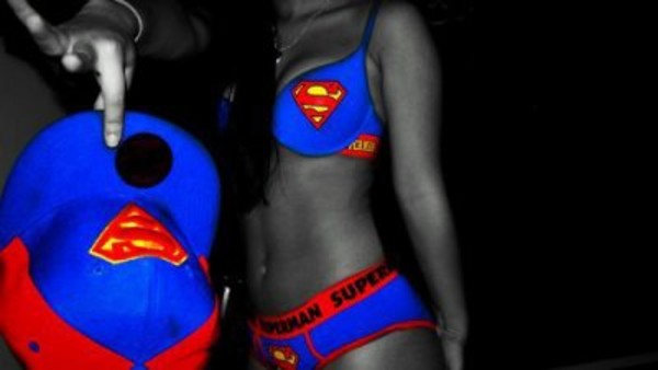 underwear superman red and blue superman bra and pants