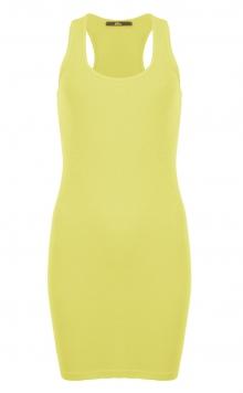 Robe Mim - coupe moulante et court - jaune mimosa