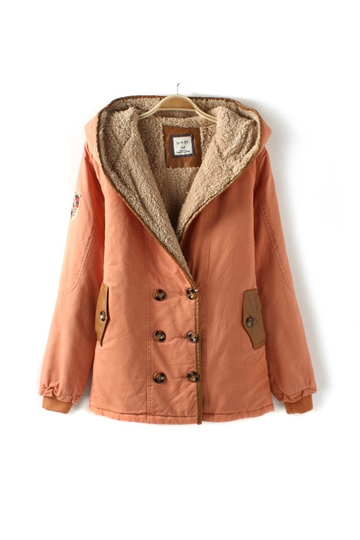 Hooded Double Breasted Warm Coat [FEBK0508]- US$ 73.99 - PersunMall.com