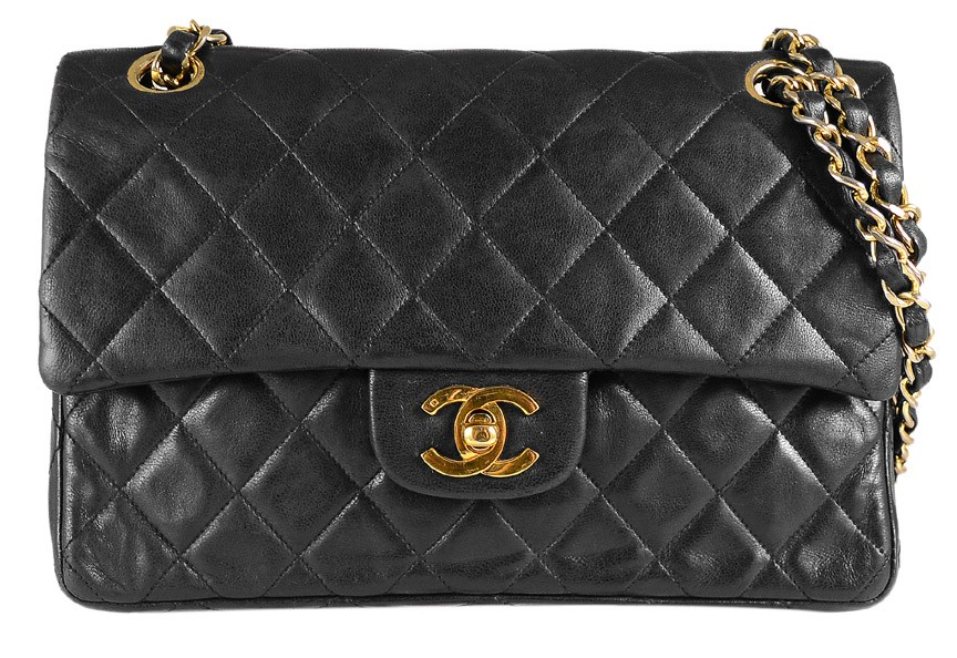 Chanel Black Quilted Lambskin Classic Medium Double Flap Bag | Portero Luxury