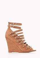 Standout Buckled Wedges | FOREVER21 - 2000110730