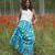 Summer maxi skirt made in Nani Iro double gauze cotton coloured pocho  – (n-1) couture.