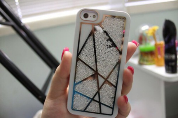 phone cover iphone case rhinestones abstract print