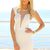 SABO SKIRT  Sterling Beaded Dress - White - 48.0000