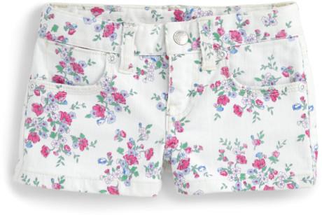 Ralph Lauren Toddlers Little Girls Floral Denim Shorts in Floral (white multicolor) | Lyst