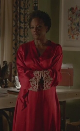 pajamas lace trim rope red viola davis annalise keating how to get away with murder