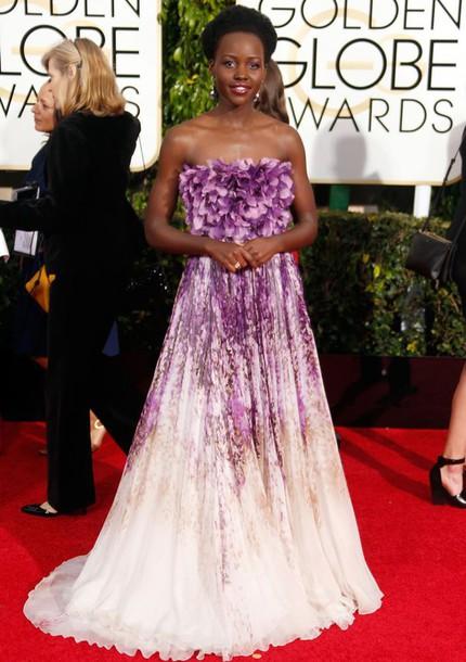 dress lupita nyong'o Golden Globes 2015