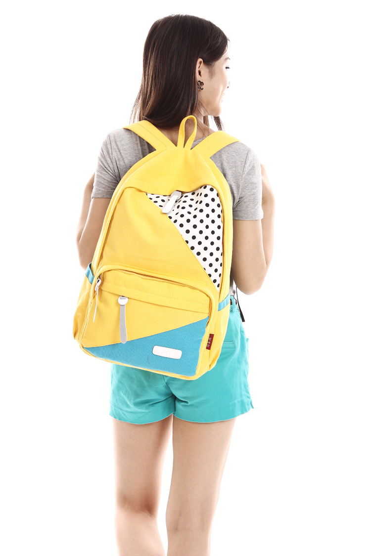 2013 New Fashion Dot Lady's Double Shoulder Backpack Female Male school bag Girls Boys travel laptop bag canvas Women-inBackpacks from Luggage & Bags on Aliexpress.com