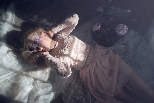 dress dream cute pastel lace dress