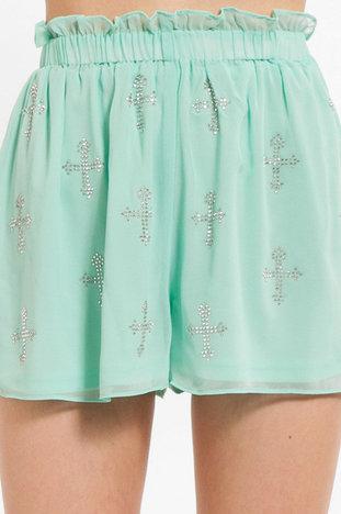 Sequin Cross Shorts ~ TOBI