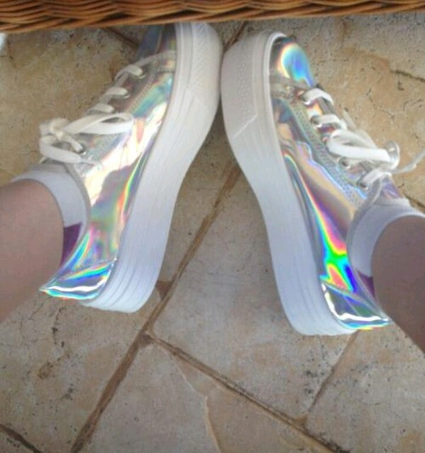 shoes creepers platform shoes holographic shoes