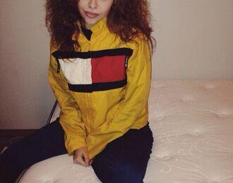 jacket yellow jacket tommy hilfiger yellow vibrant winderbreaker windbreaker