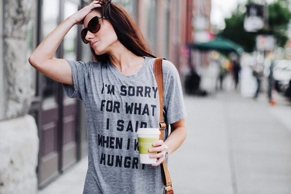 t-shirt grey hungry t-shirt grey t-shirt
