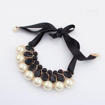 Gorgeous Rhinestone elegante y collar de la cinta de las mujeres adornadas del grano para Vender - La Tienda En Online IGOGO.ES