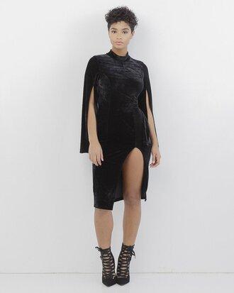 dress black black dress slit slit dress velvet black velvet velvet dress black velvet dress