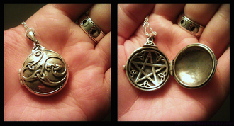 jewels wiican religion vintage locket