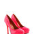 Pink Neon Platform Court Shoe at Fashion Union