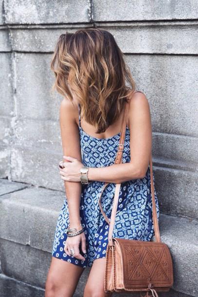 dress dress blue pattern