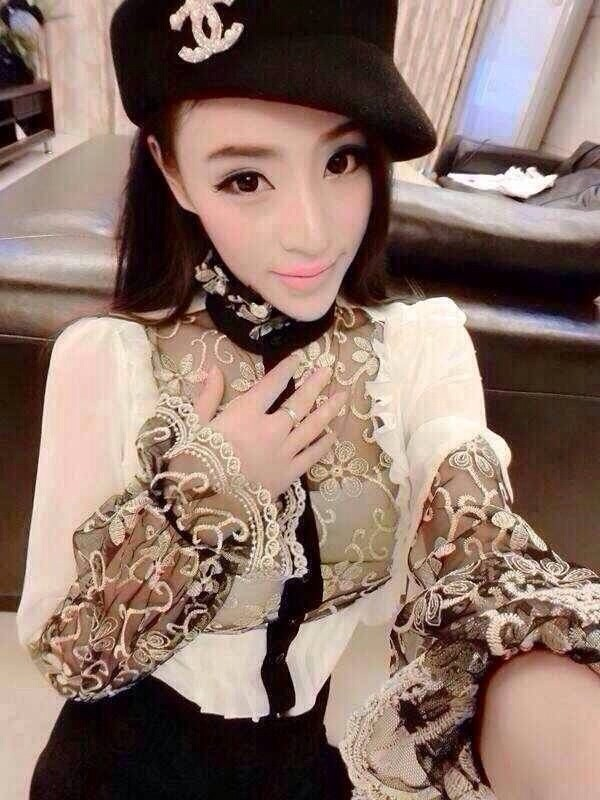 blouse sequins lace chiffon dress shirt too browse.
