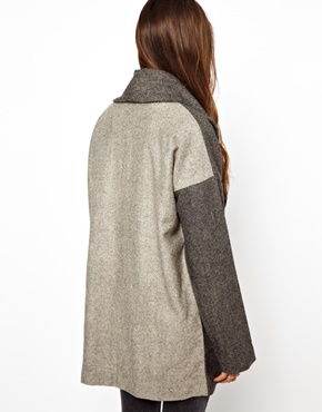 Religion   Religion Contrast Back Victorious Oversized Coat at ASOS