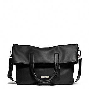 Coach :: THOMPSON FOLDOVER TOTE IN LEATHER