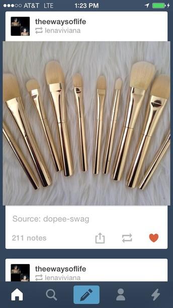 make-up makeup brushes gold makeup gold makeup brushes metal brushes metal makeup brushes