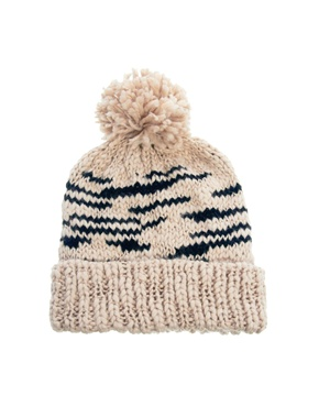 New Look | New Look Animal Bobble Beanie at ASOS