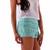Mint Floral Crochet Lace Shorts