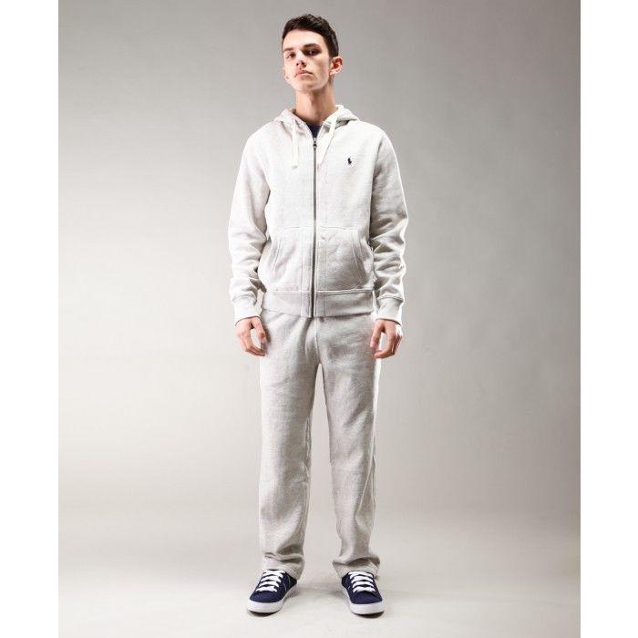 Polo Ralph Lauren Men's Fleece hooded tracksuit Top and Bottom Grey RRP £180 | eBay